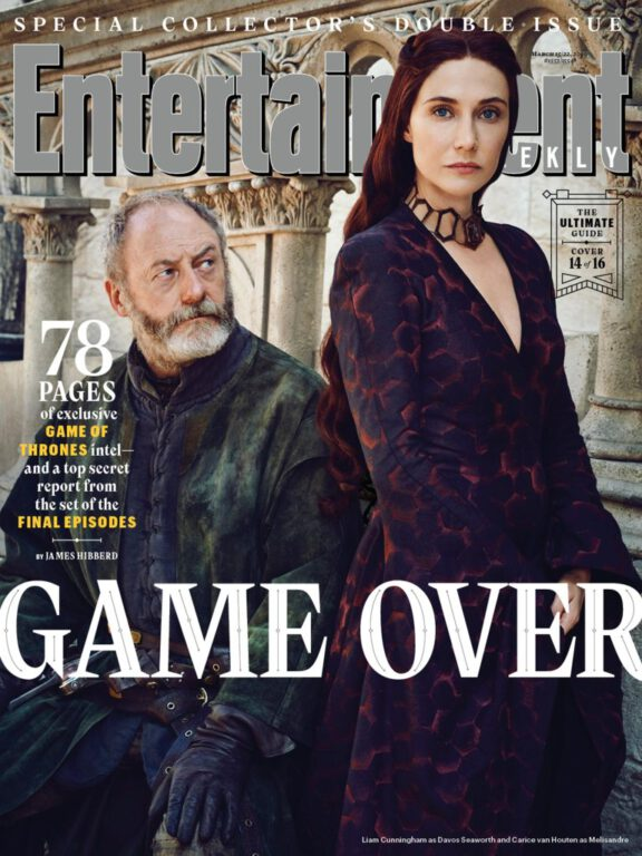 Davos Seaworth and Melisandre on Game of Thrones