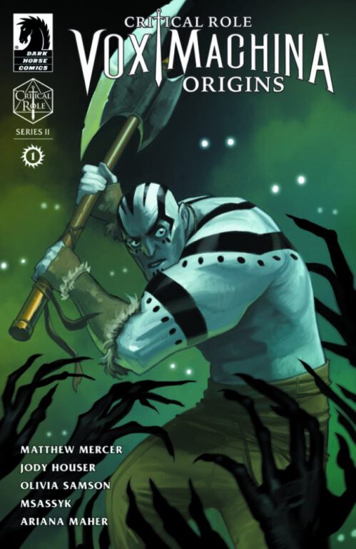 The cover of the first issue in Vox Machina Origins series 2.