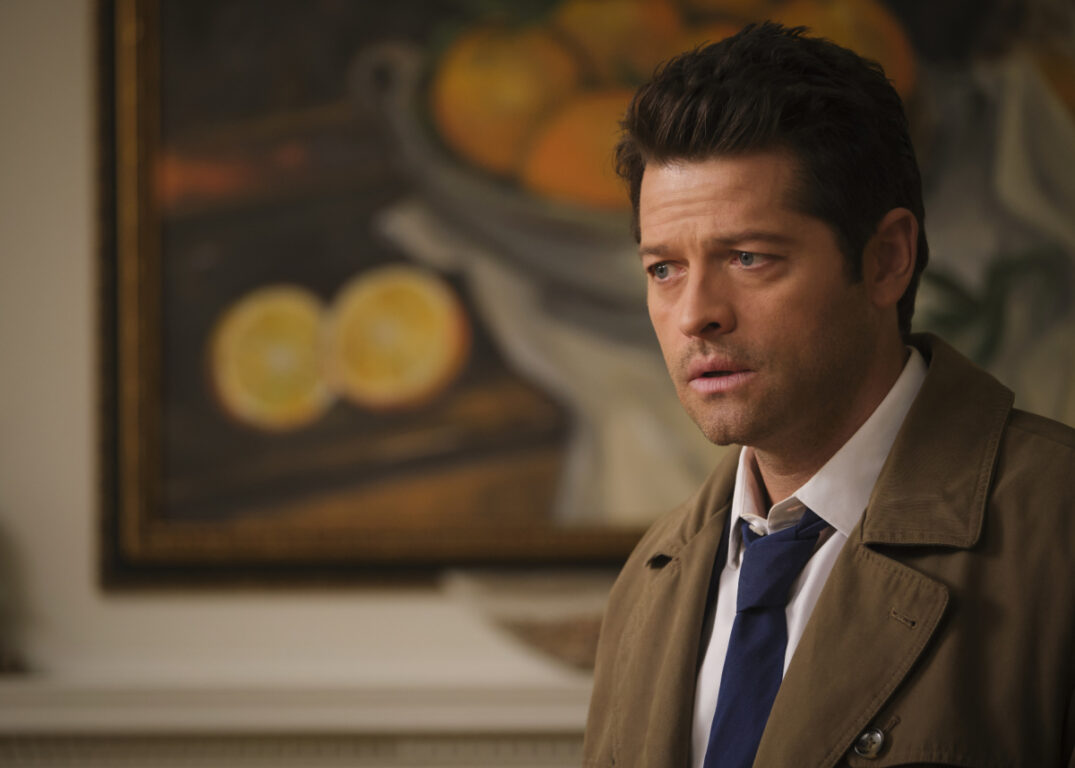 Castiel steps into a weird town on Supernatural, Peace of Mind
