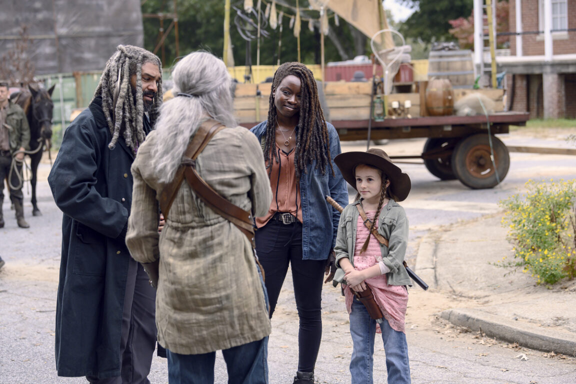 Michonne and Judith arrive at the Kingdom on The Walking Dead