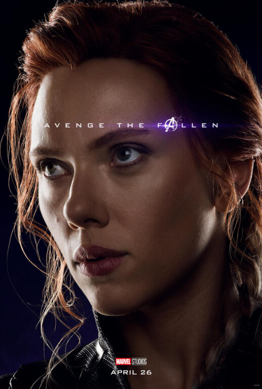 Scarlett Johansson as Black Widow Natasha Romanov in Avengers: Endgame.