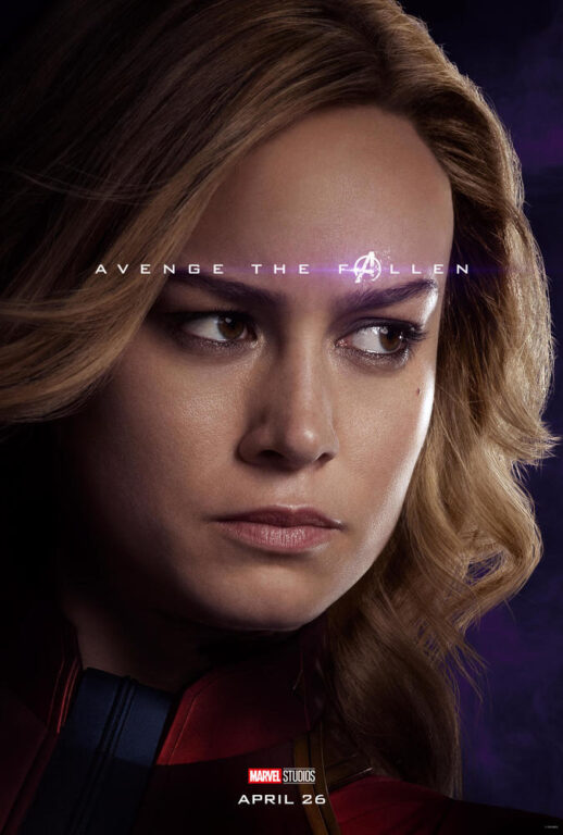 Brie Larson as Carol Danvers/Captain Marvel in Avengers: Endgame