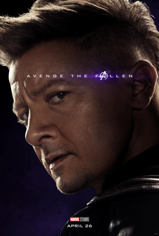 Jeremy Renner as Hawkeye Clint Barton in Avengers: Endgame.