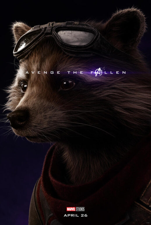 Bradley Cooper as the voice of Rocket Raccoon in Avengers: Endgame.