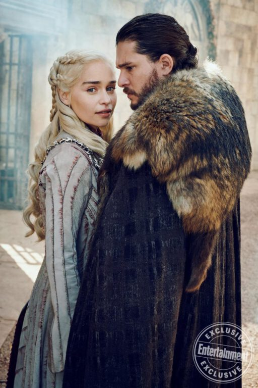 Daenerys Targaryen and Jon Snow on Game of Thrones
