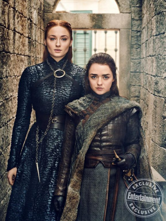 Sansa and Arya Stark of Game of Thrones