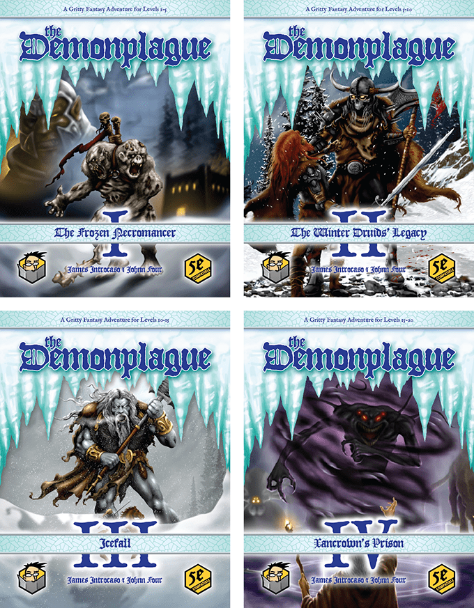 Four different covers for each Demonplague module covers