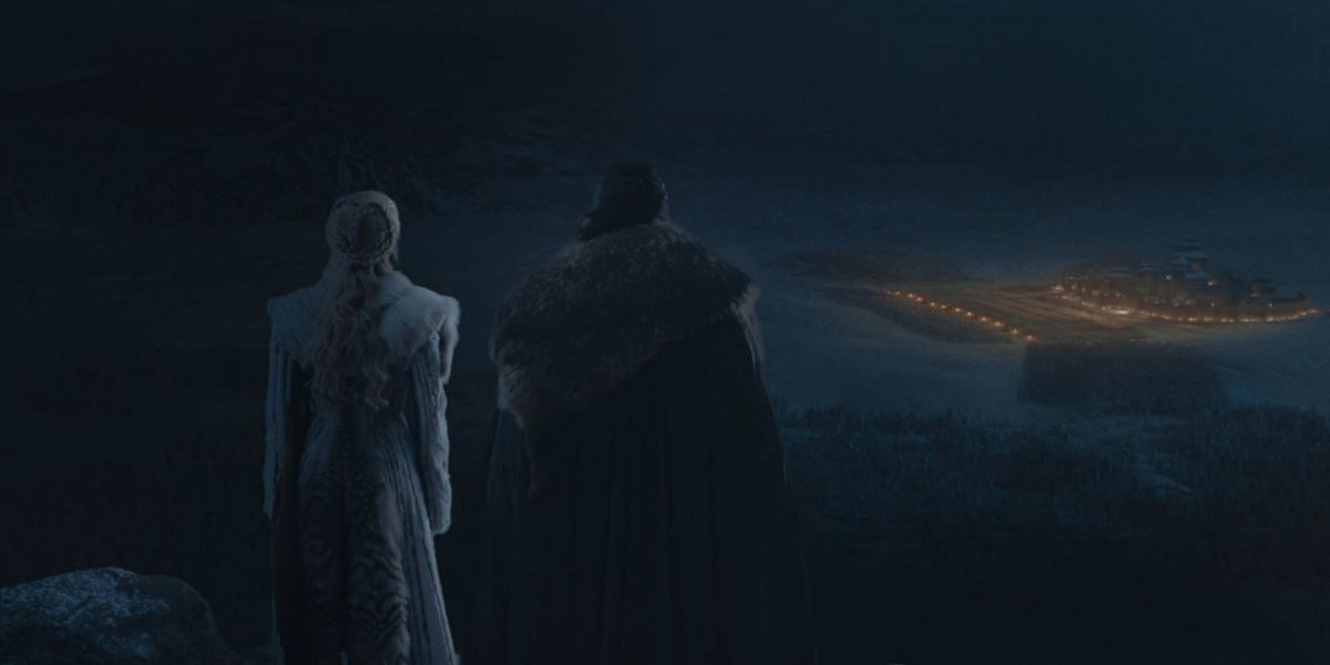 Jon and Dany watch for the Night King