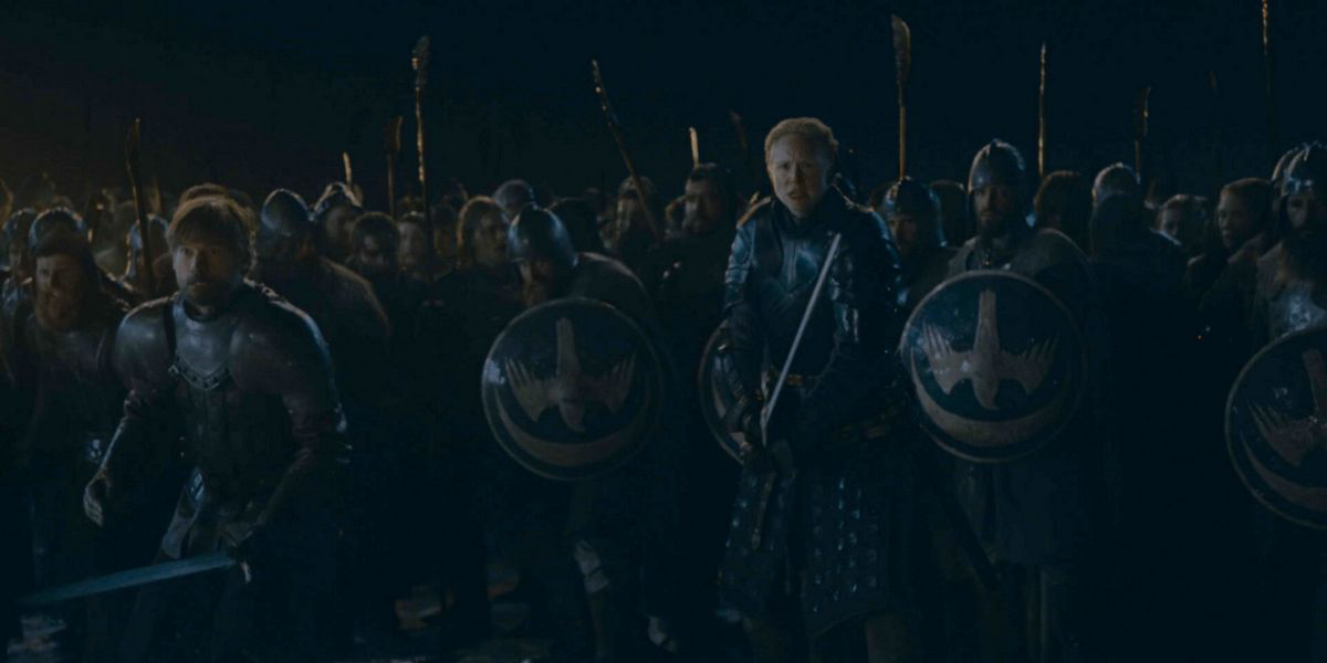 Brienne, Jaime Lannister and their troops brace for the onslaught of the Army of the Dead.