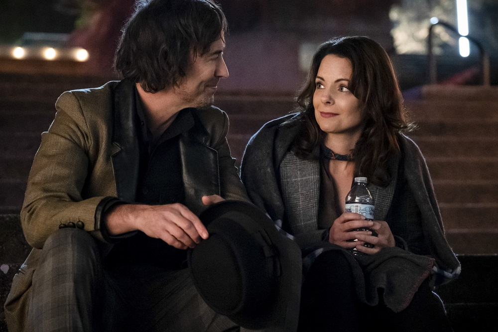 """Tom Cavanagh as Sherloque Wells and Kimberly Williams - Paisley as Renee Adler in The Flash -- """"The Girl with The Red Lightning"""""""