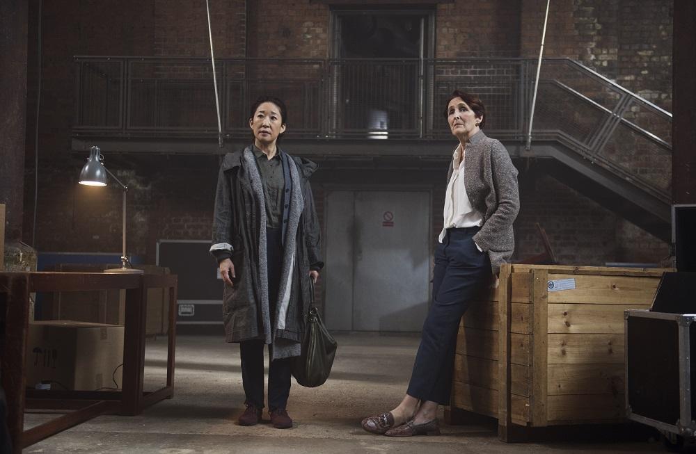 Still of Sandra Oh and Fiona Shaw in Killing Eve