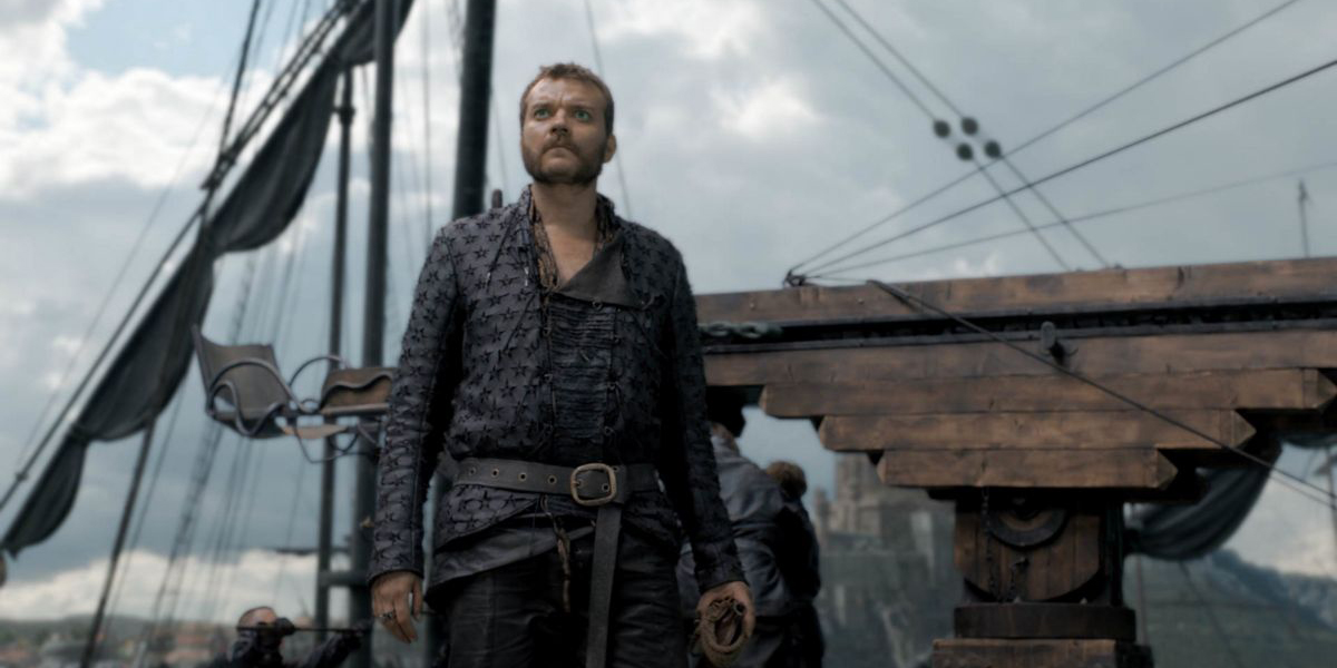 Euron Greyjoy sees something coming towards his ship on Game of Thrones