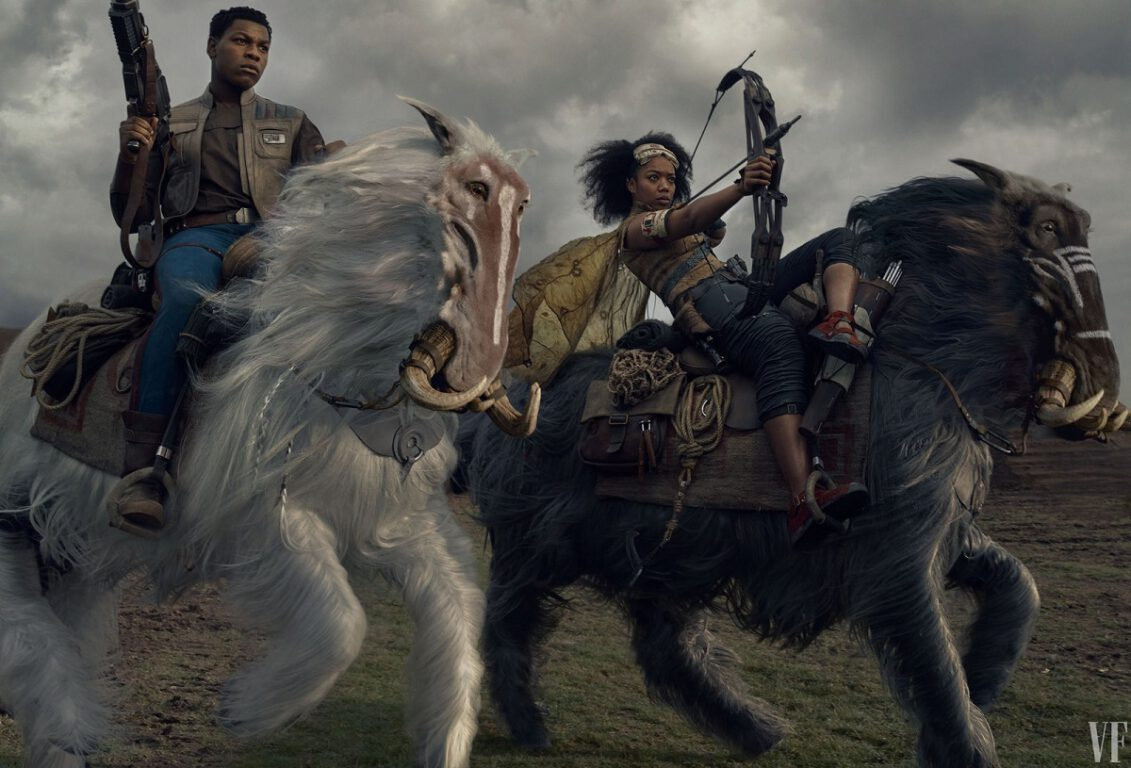 Star Wars; Rise of Skywalker First Look at Finn and Jannah
