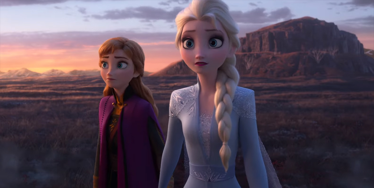 Elsa (Idina Menzel) and Anna (Kristen Bell) in still image from Disney's Frozen 2