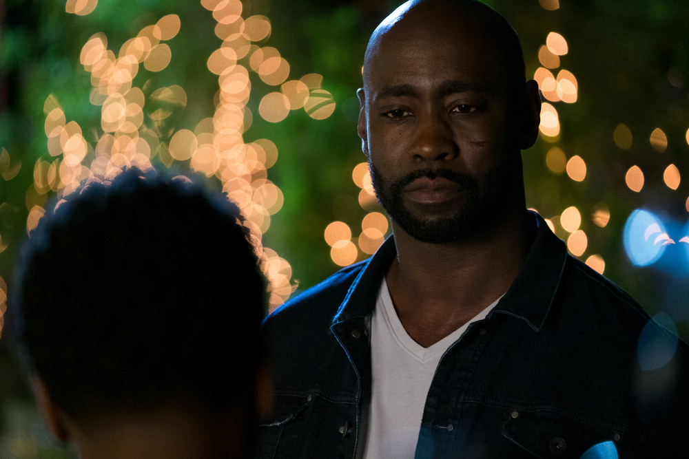 "D. B. Woodside as Amenadiel on Lucifer, ""Super Bad Boyfriend."" Courtesy of Netflix."