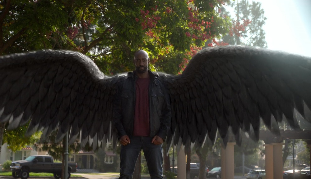 Amenadiel protects his family in Lucifer.
