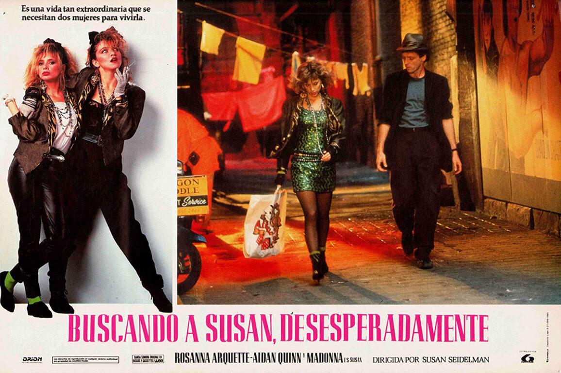 Rosanna Arquette and Aidan Quinn in Desperately Seeking Susan