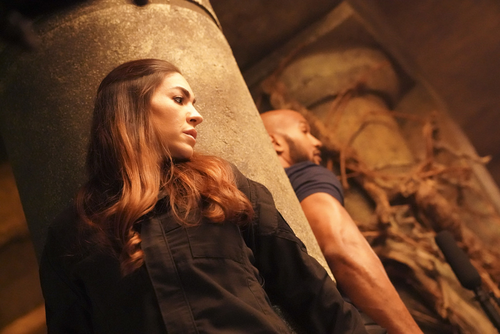Mack and Yo-Yo await rescue in Marvel's AGENTS OF S.H.I.E.L.D.