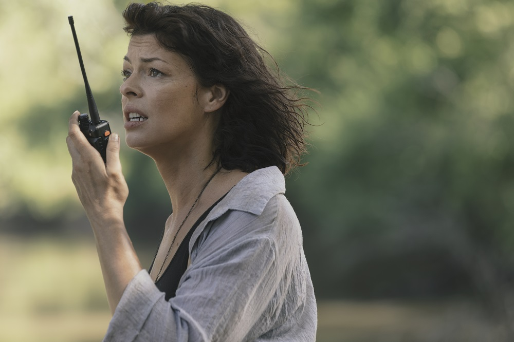 Anne Radios the Helicopter on The Walking Dead