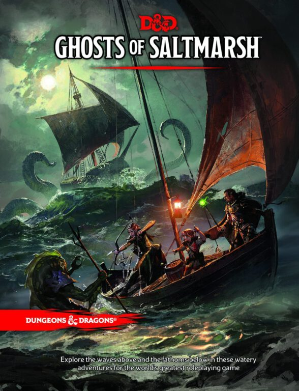 Basic Ghosts of Saltmarsh Cover for dungeons and dragons