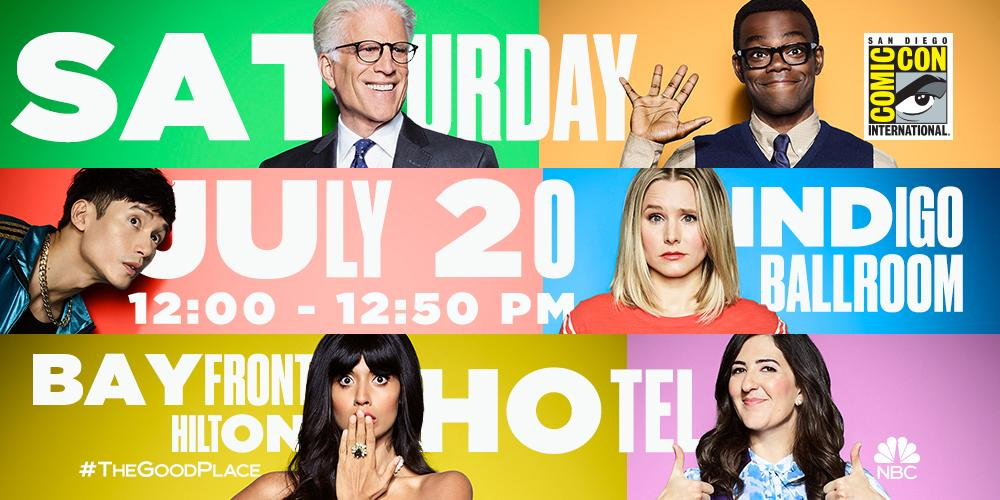 SDCC 2019: THE GOOD PLACE Panel Gives Us All the Jeremy Bearimy Feels