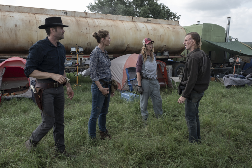 the group discusses their next move on Fear the Walking Dead