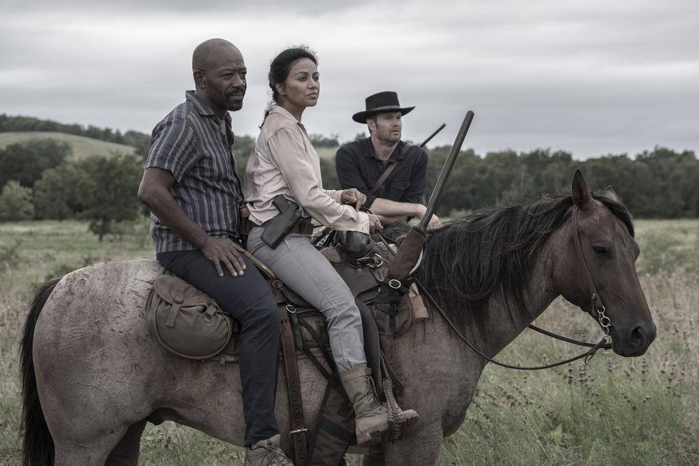 Morgan, Grace and John herd walkers on Fear the Walking Dead