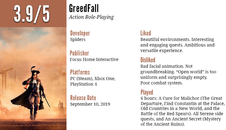 Greedfall review card