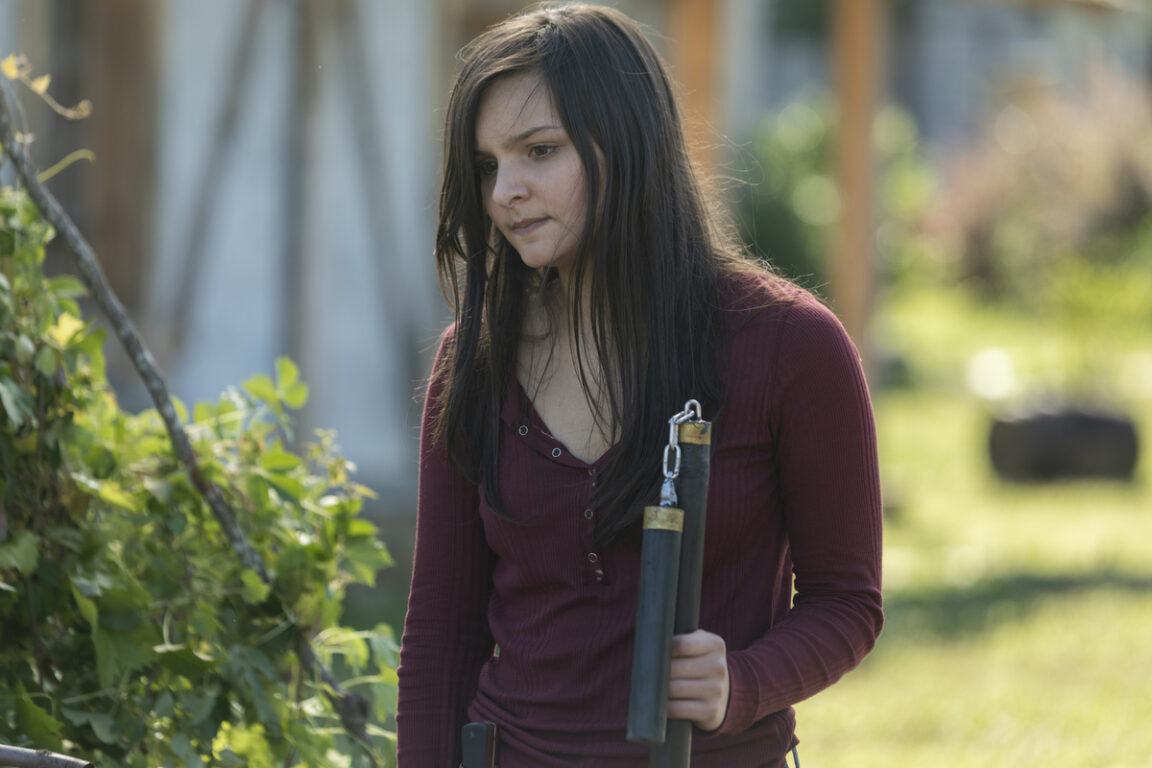 Lydia adjusts in Alexandria on The Walking Dead