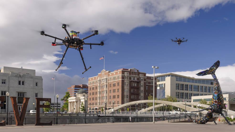 Drones, photo by Dominic Hart/NASA