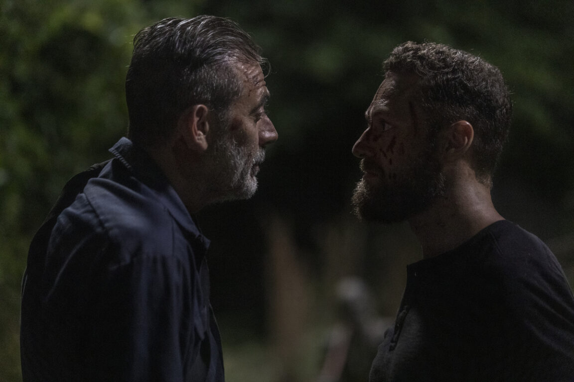 Negan and Aaron face off on The Walking Dead