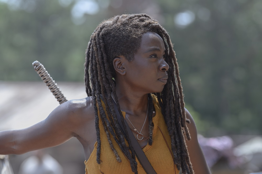 Michonne helps her friends at the Hilltop on The Walking Dead