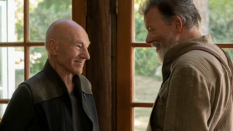 Picard and Riker are together again in Star Trek: Picard