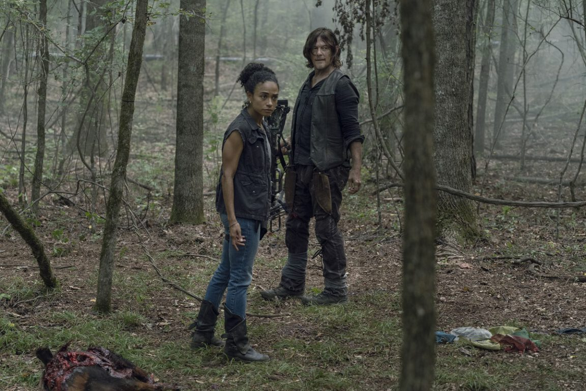 Connie and Daryl search for Kelly on The Walking Dead