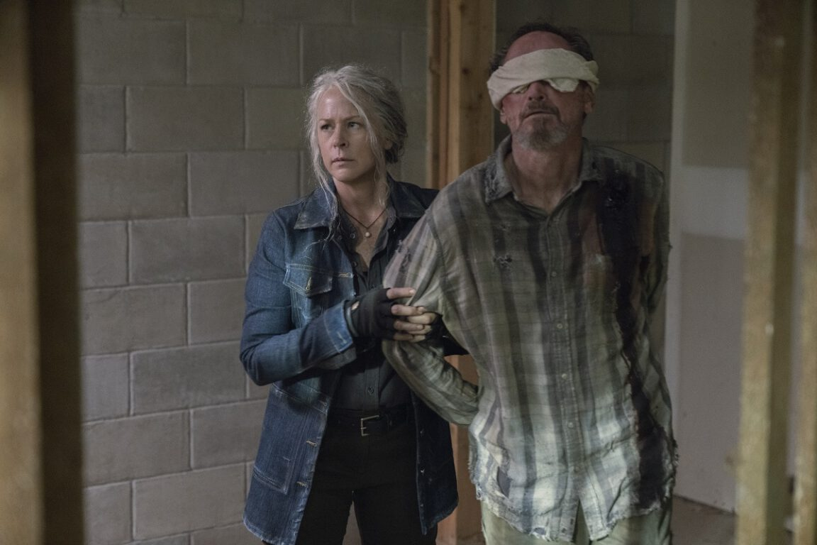 Carol takes in a Whisperer hostage on The Walking Dead