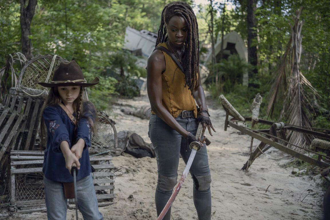 Judith captures a stranger on The Walking Dead