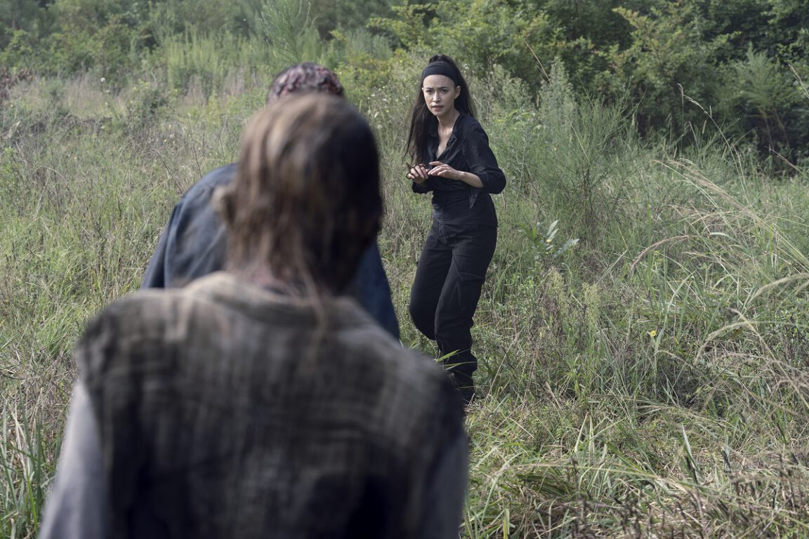Rosita blows off some steam on The Walking Dead