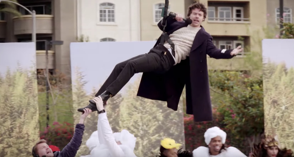 Harry Styles Is the Best of Sports in James Corden's Crosswalk Concert