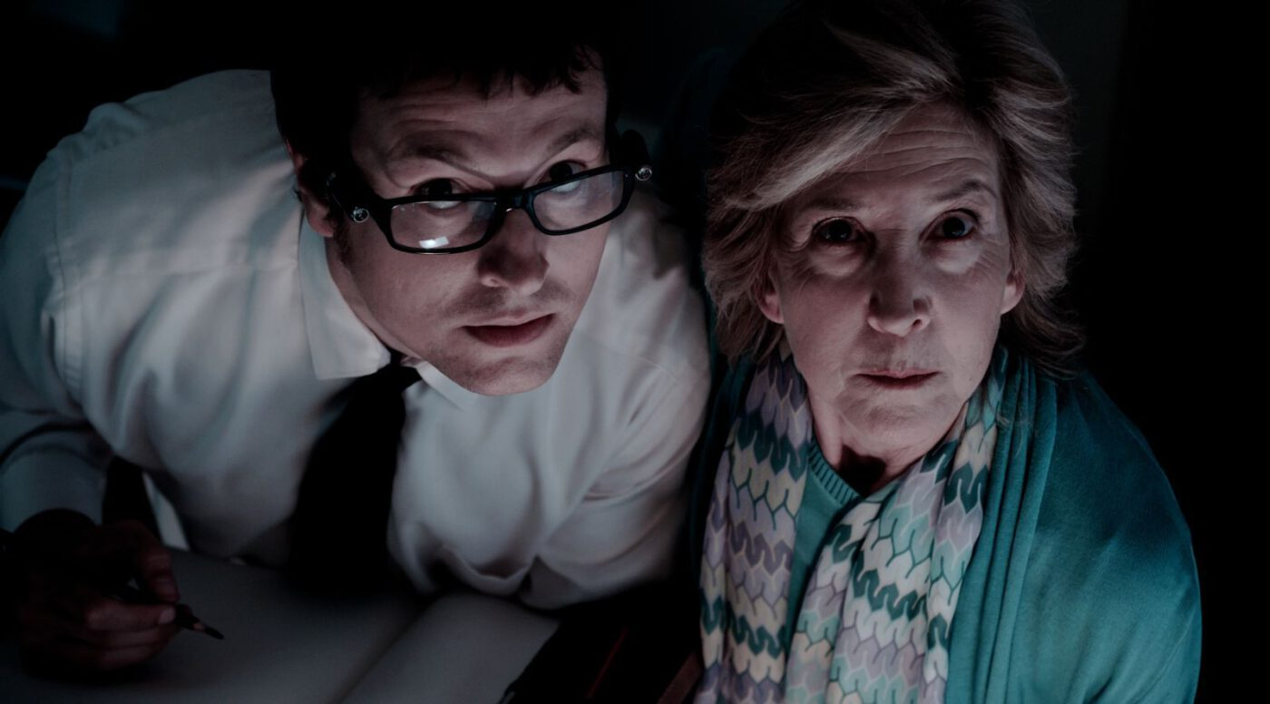 favorite flicks - Leigh Whannell, Lin Shaye in INSIDIOUS