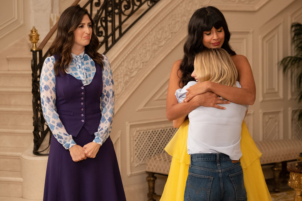 D'Arcy Carden, Jameela Jamil, and Kristen Bell