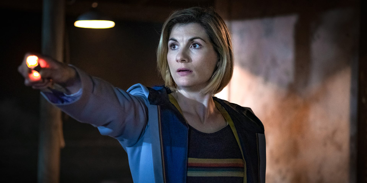 The Doctor wields her Sonic Screwdriver in the second half of the series 12 premiere, Spyfall of Doctor Who.