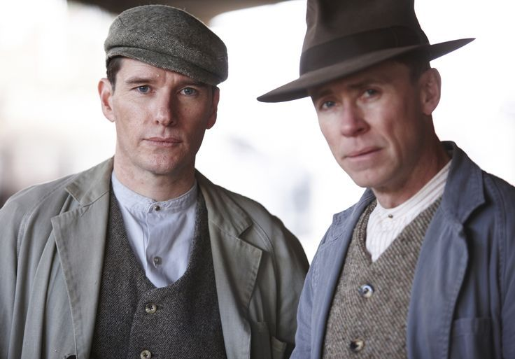Anthony J. Sharpe as Cec and Travis McMahon as Bert in Miss Fisher's Murder Mysteries