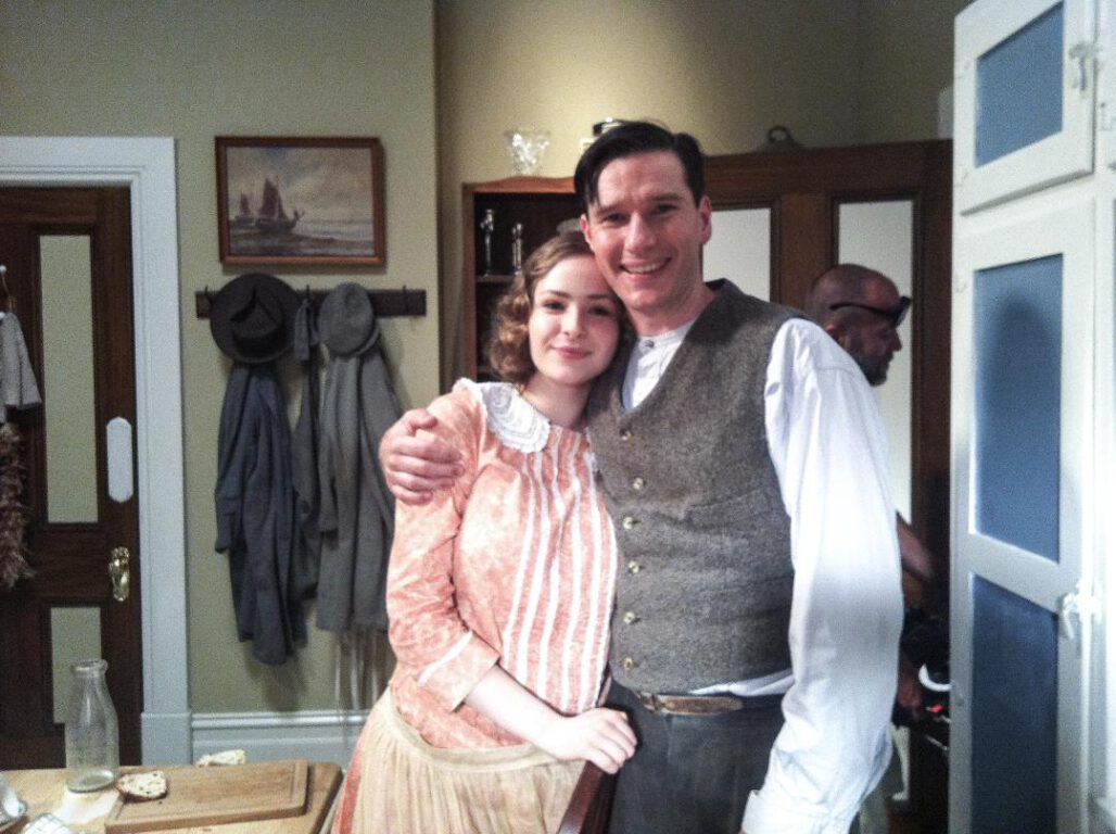 Ashleigh Cummings as Dorothy 'Dot' Collins and Anthony J. Sharpe as Cecil Yates in Miss Fisher's Murder Mysteries