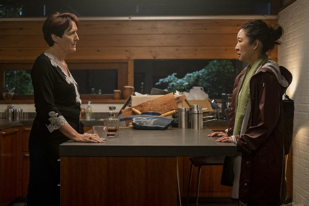 Fiona Shaw and Sandra Oh in Killing Eve