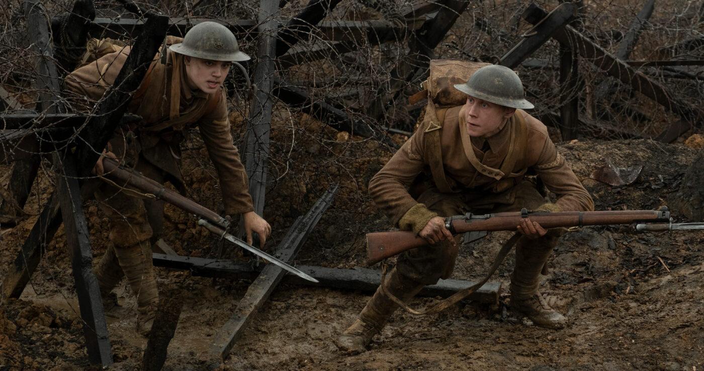"Dean-Charles Chapman and George MacKay in ""1917"""