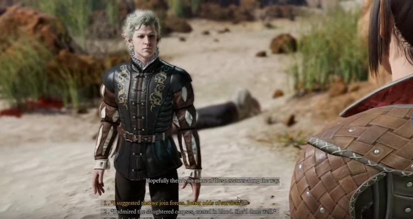 Dialogue choices in Baldur's Gate III