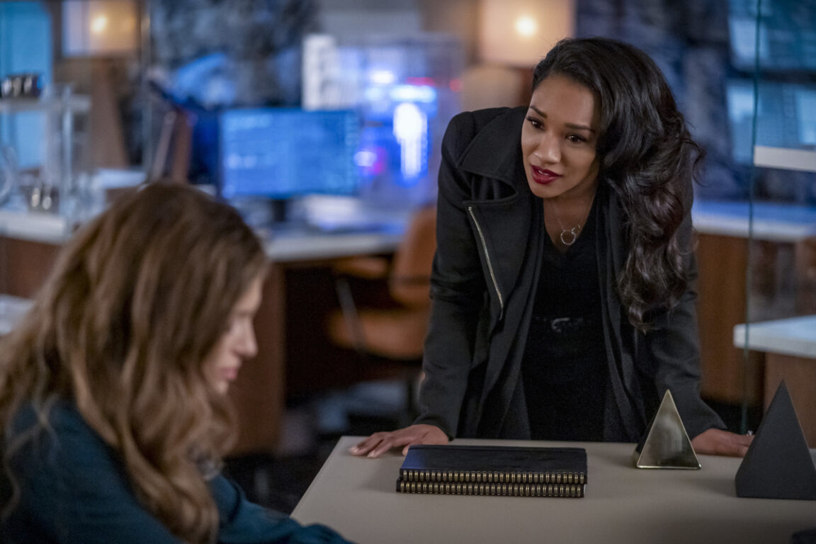 Iris tries to keep Eva in a positive state of mind on The Flash