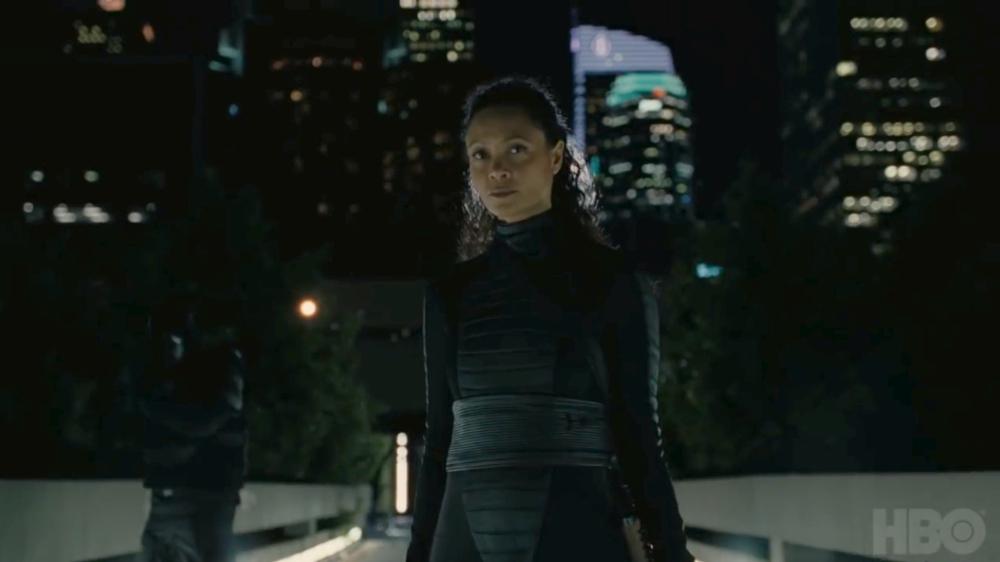 Thandie Newton as Maeve in Westworld season 3.