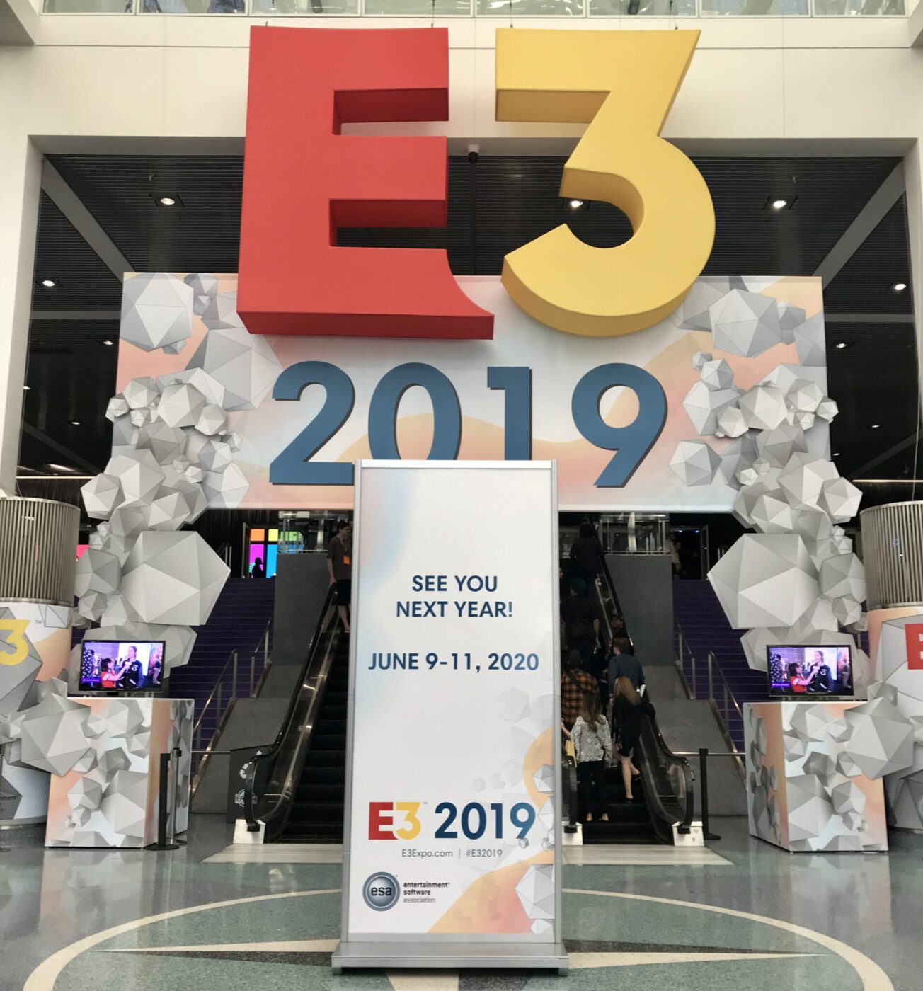 E3 2019 Sign Outside the Expo