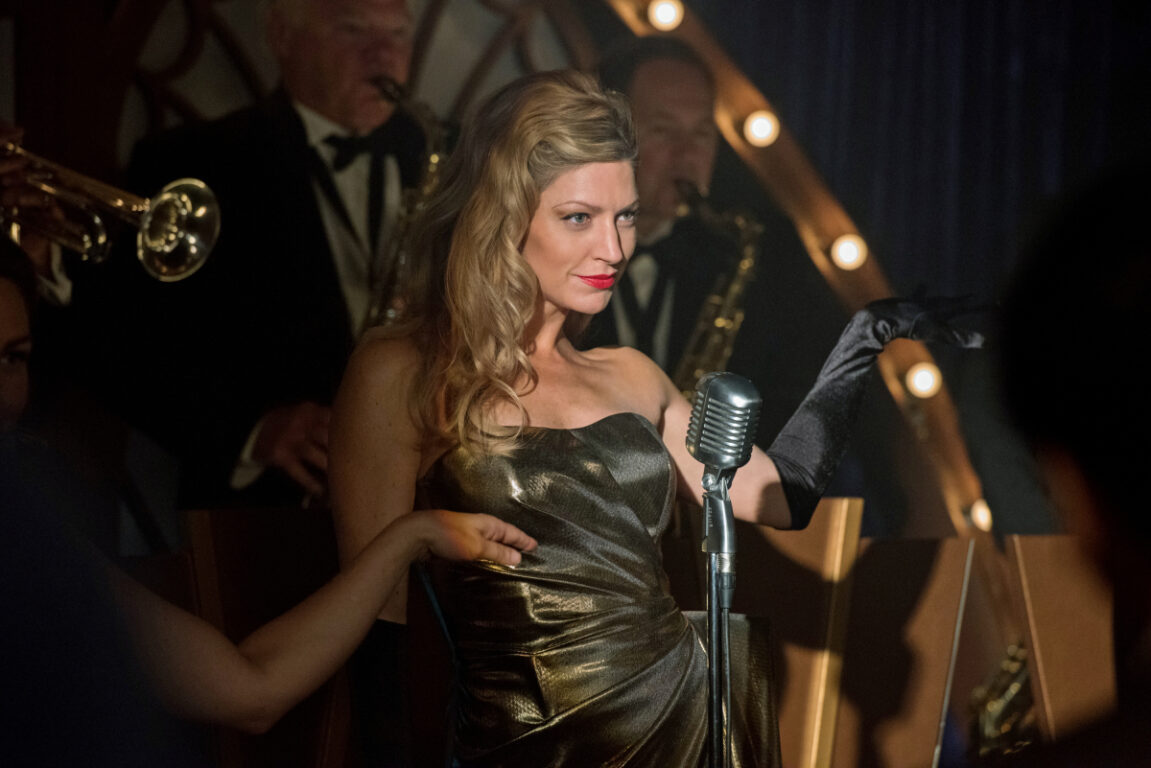 Arrowverse Legend Ava Sharpe performs a jazzy tune on Legends of Tomorrow